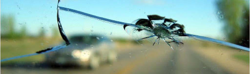 Chipped Windshield Repair Closeup